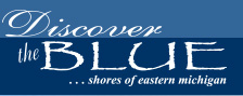 discover the blue logo