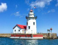 Harbor Beach Lighthouse with Fog Signal Building